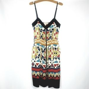 Tribal Aztec Print Strappy Dress Sz Med